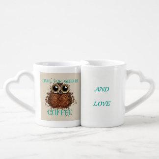 Conjunto De Caneca De Café Tudo que você precisa é amor e café