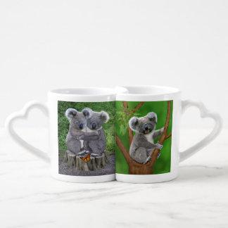 Conjunto De Caneca De Café Urso de Koala Huggies do bebê