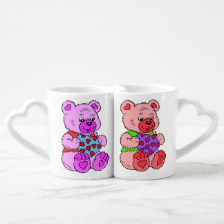 Conjunto De Caneca De Café Ursos de ursinho coloridos
