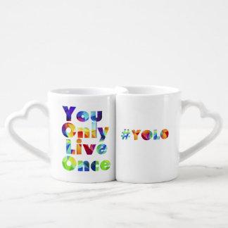 Conjunto De Caneca De Café #yolo você vive somente uma vez que grupo da