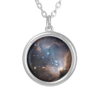 Conjunto de estrela do anjo do sono colar banhado a prata