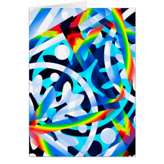 Conjunto de formas abstratas coloridas cartão comemorativo