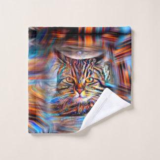 Conjunto De Toalhas À deriva no gato abstrato da revolução das cores