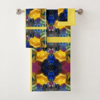 Conjunto De Toalhas A flor amarela aumentou