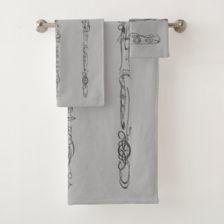 Conjunto De Toalhas A lápis fantástico desenhos da flauta