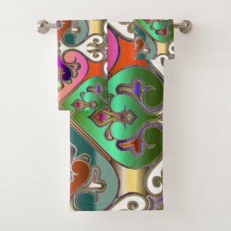 Conjunto De Toalhas Abstrato colorido elegante do Arabesque