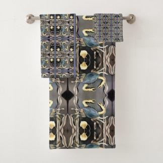 Conjunto De Toalhas Abstrato do caranguejo azul
