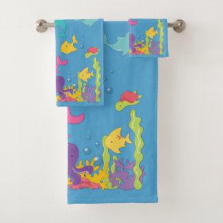 Conjunto De Toalhas Animais de mar bonitos