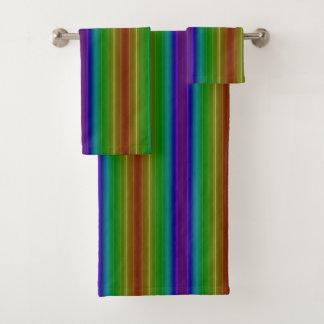 Conjunto De Toalhas Arco-íris