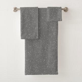 Conjunto De Toalhas Arte do caminho do abstrato do labirinto do bloco