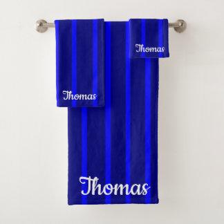 Conjunto De Toalhas Azul 3D personalizado