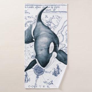 Conjunto De Toalhas Azul antigo da orca