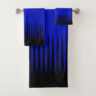 Conjunto De Toalhas Azul do design da onda