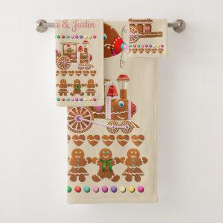 Conjunto De Toalhas Biscoitos felizes do pão-de-espécie
