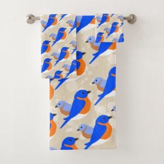 Conjunto De Toalhas Bluebirds orientais