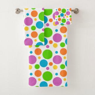 Conjunto De Toalhas Bolinhas coloridas