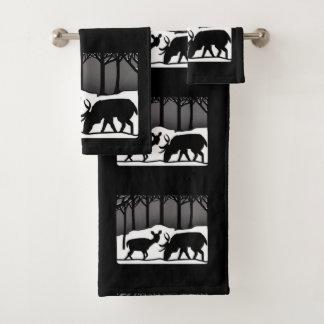 Conjunto De Toalhas Cervos da neve