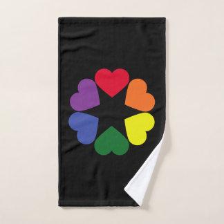 Conjunto De Toalhas Corações do orgulho de LGBT