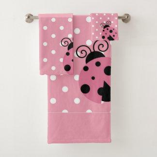 Conjunto De Toalhas Costume cor-de-rosa do joaninha