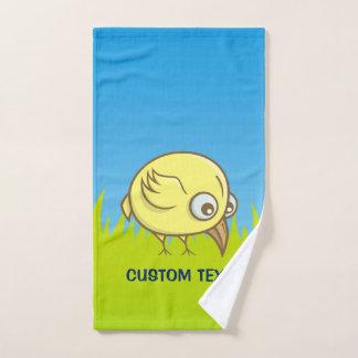 Conjunto De Toalhas Desenhos animados amarelos do pássaro
