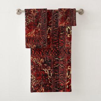 Conjunto De Toalhas Design oriental do tapete na obscuridade -