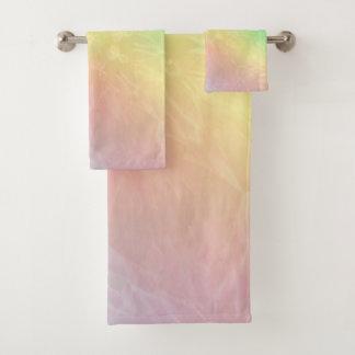 Conjunto De Toalhas Design Pastel da mandala do arco-íris