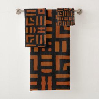 Conjunto De Toalhas Design tribal africano morno