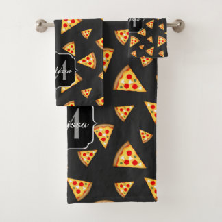 Conjunto De Toalhas Esfrie e a pizza do divertimento corta o monograma