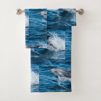 Conjunto De Toalhas Espirro do golfinho