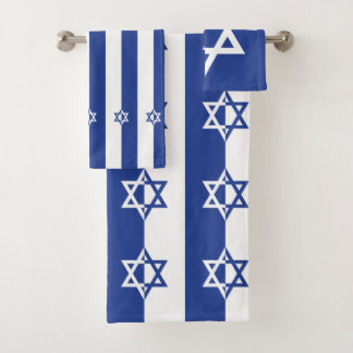 Conjunto De Toalhas Estrela de David azul e branca moderna judaica