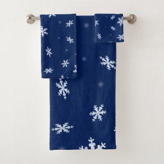 Conjunto De Toalhas Flocos de neve