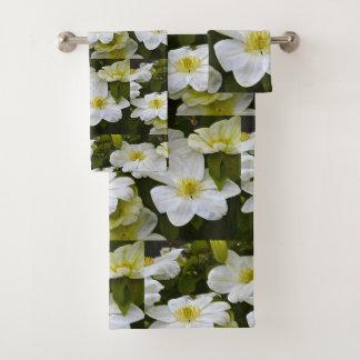 Conjunto De Toalhas Flor branca do Clematis