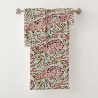 Conjunto De Toalhas Flowerpot 1878 de William Morris do vintage