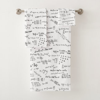 Conjunto De Toalhas Fórmulas e números da matemática