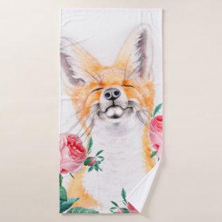 Conjunto De Toalhas Foxy feliz e rosas