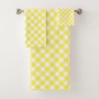 Conjunto De Toalhas Guingão amarelo ensolarado