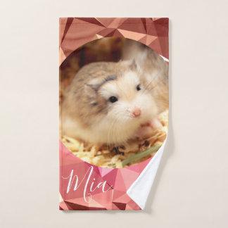 Conjunto De Toalhas HammyVille - o hamster bonito de Robo personaliza