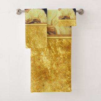 Conjunto De Toalhas Jesus que quebra a textura do ouro de matthew