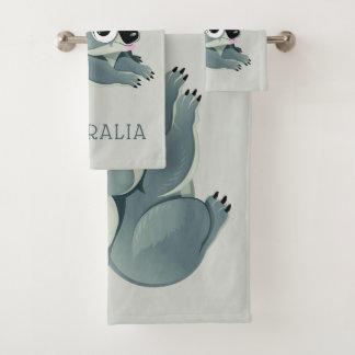 Conjunto De Toalhas Koalas bonitos nome & grupo feitos sob encomenda