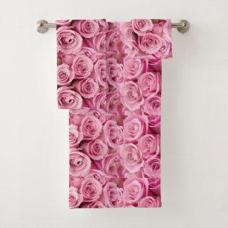Conjunto De Toalhas Lavado em rosas cor-de-rosa