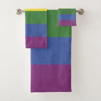 Conjunto De Toalhas Listras do arco-íris