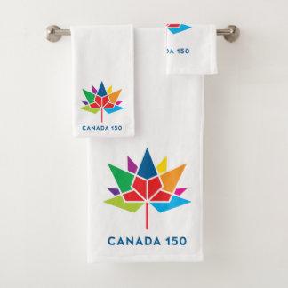 Conjunto De Toalhas Logotipo do oficial de Canadá 150 - multicolorido