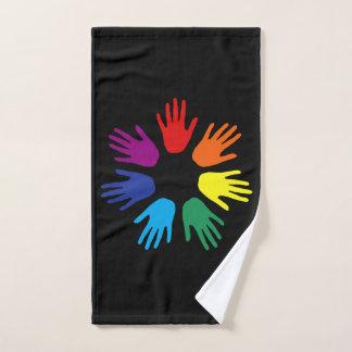 Conjunto De Toalhas Mãos do arco-íris