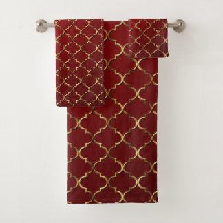 Conjunto De Toalhas Mosaico moderno do Arabesque do estilo do vintage