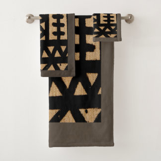 Conjunto De Toalhas Motivo africano de pano da lama