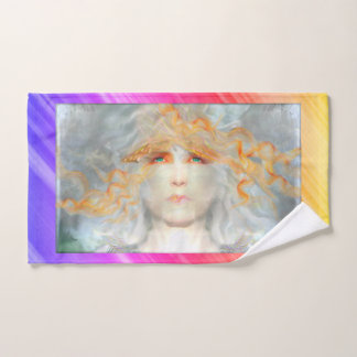 Conjunto De Toalhas O respingo da cor compo a fantasia da arte