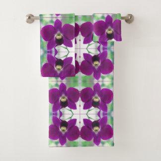 Conjunto De Toalhas Orquídea roxa
