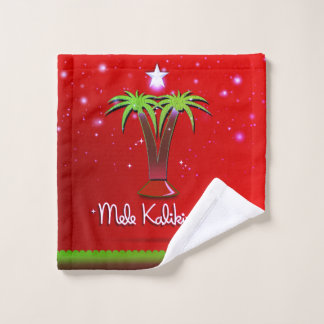 Conjunto De Toalhas Palmeira de Mele Kalikimaka para o Xmas