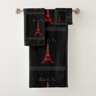 Conjunto De Toalhas Paris: O La de C'est Vie