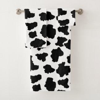 Conjunto De Toalhas Pontos manchados do animal de Holstein do Dutch da